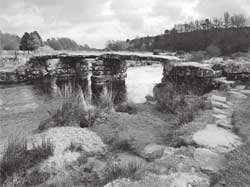 Clapper bridge at Postbridge on Dartmoor